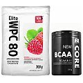 100% LABS Elite WPC 80 Instant + Fitness Authority BCAA Core 8:1:1