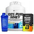 BioTech USA 100% Pure Whey + BCAA Variety Pack + Shaker
