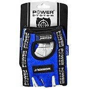 Power System Rękawice Treningowe Workout (PS-2200) niebiesko-białe 3/3