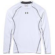 Under Armour Rashguard Męski Heatgear Armour Compression Longsleeve 1257471-100 biały 2/5
