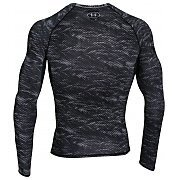 Under Armour Koszulka Męska Heatgear Armour Printed Longsleeve Compression Shirt 1258896-004 szary 2/8