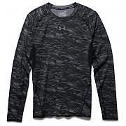 Under Armour Koszulka Męska Heatgear Armour Printed Longsleeve Compression Shirt 1258896-004 szary 3/8