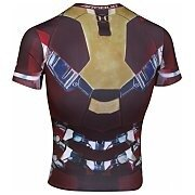 Under Armour Rashguard Męski Alter Ego Iron Man Compression Shirt 1268260-609 czerwony 2/6