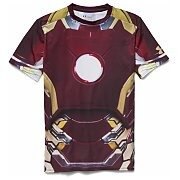 Under Armour Rashguard Męski Alter Ego Iron Man Compression Shirt 1268260-609 czerwony 6/6