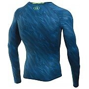 Under Armour Koszulka Męska Heatgear Armour Printed Longsleeve Compression 1258896-438 niebieski 2/6