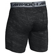 Under Armour Spodenki Męskie HeatGear® Armour® Compression Printed Short 1257473-004 szaro-czarne 2/8