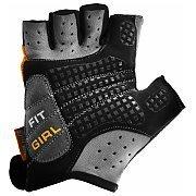 Power System Rękawiczki Treningowe Fit Girl (PS-2900) czarno-szare z czerwonymi elementami 2/3
