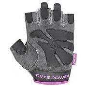 Power System Rękawiczki Treningowe Cute Power (PS-2560) szaro-różowe 2/3