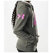 Under Armour Bluza Damska UA Favorite Fleece Wordmark Hoody 1264719-090 szary 2/5