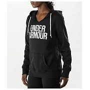 Under Armour Bluza Damska UA Favorite Fleece Wordmark Hoody 1264719-001 czarny 2/6