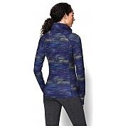 Under Armour Bluza damska UA Armour Coldgear Printed 1/4 Zip 1248527-540 granatowy mix 2/3