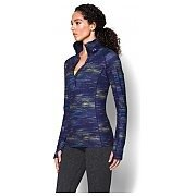 Under Armour Bluza damska UA Armour Coldgear Printed 1/4 Zip 1248527-540 granatowy mix 3/3
