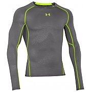 Under Armour HeatGear Compression Printed Longsleeve T-Shirt szaro-seledynowy 2/6